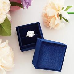 Monogram Initial Bride Wedding Ring Box Jewelry Box Velvet