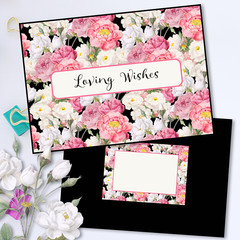 Elegant Vintage Roses Greeting Card