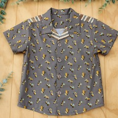 Trucks and Diggers - Boy's Button up Shirt - Size 4