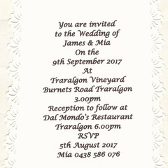 SUNBURST LASER CUT INVITATIONS