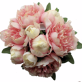 Pink Peony Bridesmaid Bouquet - Silk Flowers Bouquet Peony Wedding Bouquet