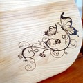 Wood Burnt Butterfly Cheese Board