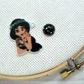 Needle Minder | Rebel Princess Jasmine | Needleminder | Magnet for Cross Stitch,