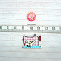Needle Minder | Cute As A Button Sewing Machine- Checkered| Needleminder | Cross