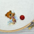 Needle Minder | SEW BEARABLE Bear #1 | Needleminder | Magnet for Cross Stitch, E