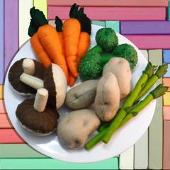 Felt Food Vegetable Set