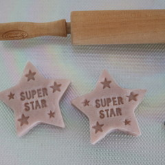 6 Super Star Playdough Stars Eco Party Favours Keep Calm & Play with Dough