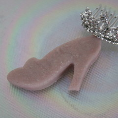 2 Glass Slipper Playdough High Heeled Shoe Playdough Party Loot Destress Dough