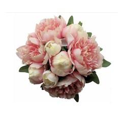 Pink Peony Bridesmaid Bouquet - Silk Flowers Bouquet Peony Wedding Bouquet