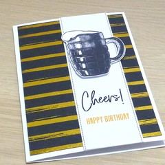 Male Birthday card - Beer