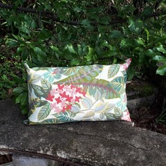 FLORAL AND LEAVES  OUTDOOR LUMBAR CUSHION