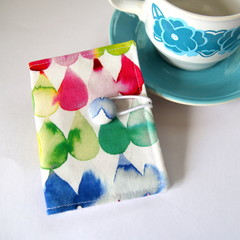 Tea Bag Wallet - Watercolour Drops