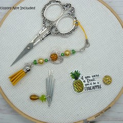 Fineapple Needlework Set | Scissor Fob, Needle Minder, Needle Threader | Cross S