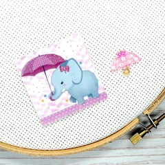 Needle Minder | Elephant With Umbrella | Needleminder | Magnet for Cross Stitch,
