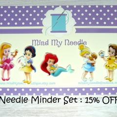 Needle Minder Set | Princess & Friend | Needleminder | Magnet for Cross Stitch,