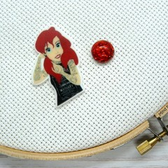Needle Minder | Rebel Princess Ariel | Needleminder | Magnet for Cross Stitch, E