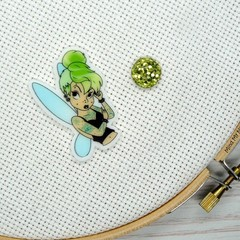 Needle Minder | Rebel Tinker Bell | Needleminder | Magnet for Cross Stitch, Embr