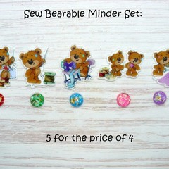 SEW BEARABLE Magnetic Needle Minder Set | Needleminder | Magnet for Cross Stitch