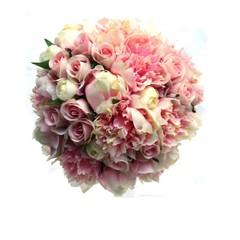 Pink Peony Bridal Bouquet- Silk Flowers Bridal Bouquet Peony Wedding Flowers