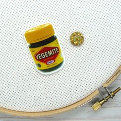 Needle Minder | Vegemite | Needleminder | Magnet for Cross Stitch, Embroidery, N