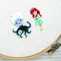 Needle Minder | Interchangeable Little Mermaid - Ariel and Ursula | Needleminder