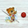 Needle Minder | SEW BEARABLE Bear #1 | Needleminder | Magnet for Cross Stitch, E