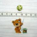 Needle Minder   SEW BEARABLE  Bear #2   Needleminder   Magnet for Cross Stitch,