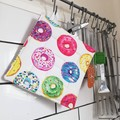 2 x Reversible Pot Holders - Donuts