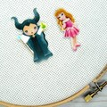 Needle Minder | Interchangeable Sleeping Beauty - Aurora and Maleficent | Needle