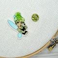 Needle Minder | Rebel Tinker Bell | Needleminder | Magnet for Cross Stitch, Embr