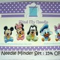 Needle Minder Set | Disney Babies | Needleminder | Magnet for Cross Stitch, Embr