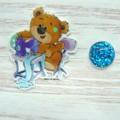 Needle Minder | SEW BEARABLE  Bear #3  | Needleminder | Magnet for Cross Stitch,