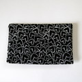 Pocket Travel Tissue Case - Hearts on Black