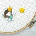 Needle Minder | Reaching For The Stars | Needleminder | Magnet for Cross Stitch,