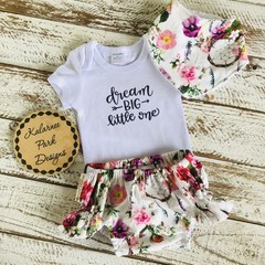 """Dream Big Little One"" Onesie Set"