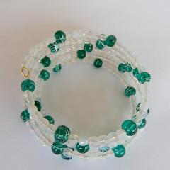 Mostly White Wrap Bracelet