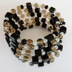 Black & Grey Wrap Bracelet