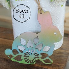 Personalised Mandala Rainbow Bunny Ornaments