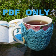 CROCHET PDF PATTERN in USA terms Mug Cozy Coaster Combo + bonus pattern