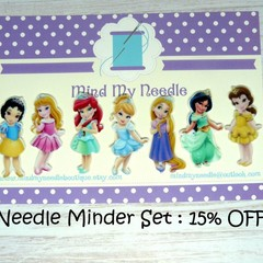 Needle Minder Set | Princess | Needleminder | Magnet for Cross Stitch, Embroider