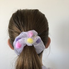 Pom Pom Party Scrunchie