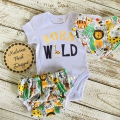 """Born Wild"" Onesie Set Baby"