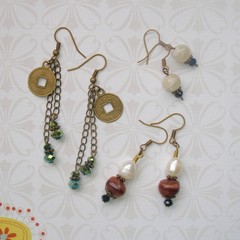 Fat Cat Originals Earrings in Earthy Tones