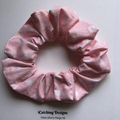 Pink Polka Scrunchie