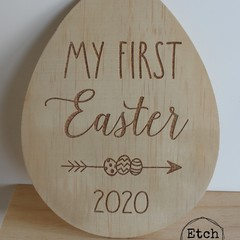 Personalised My First Easter Plaque