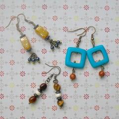 Fat Cat Originals Gemstone Earrings