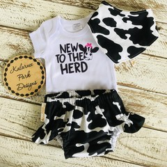 """New to the Herd"" Onesie Set Baby Girl"
