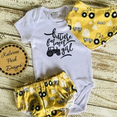 """Future Farmer Girl"" Onesie Set Baby Girl"