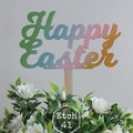 Rainbow Happy Easter Topper
