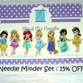 Needle Minder Set | Princess | Needleminder | Magnet for Cross Stitch, Embroider